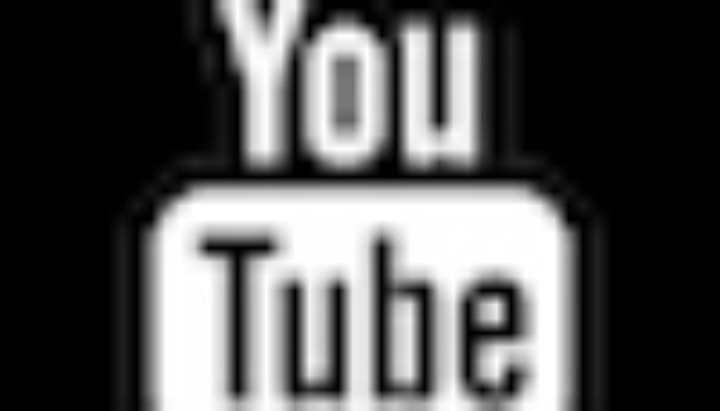 logo youtube noir et blanc